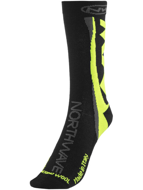 Northwave Extreme Winter High Socks Black/Yellow Fluo